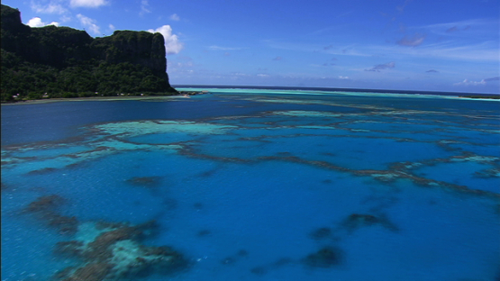 Maupiti, Leeward islands, aerial view of the lagoon