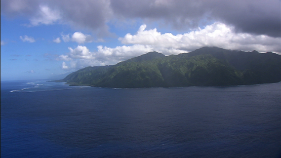 Tahiti iti, aerial view of the south of the island, windward islands