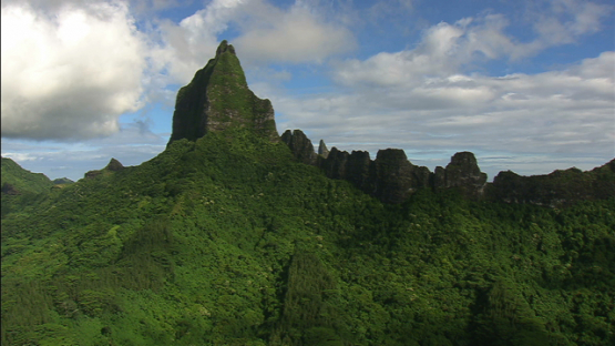 Aerial view, the mountain Mou a Roa, Moorea, windward islands