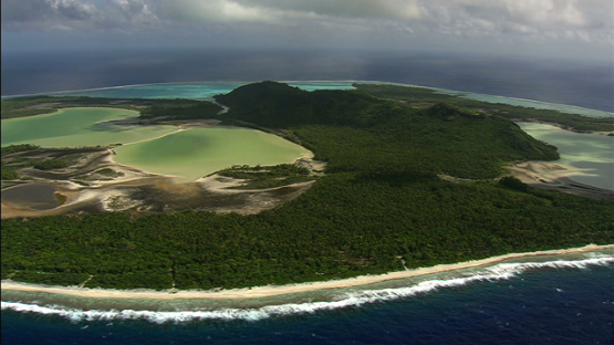 Maiao, aerial view, windward islands