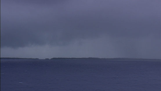 Aerial view of stormy sky, Fakarava, Tuamotu archipelago