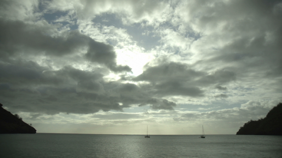 Tahuata, time lapse , clouds over the ocean at the end of the day, Marquesas islands