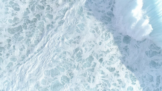 Tahiti, aerial view of the wave Teahupoo and white foam from above, , 4K UHD