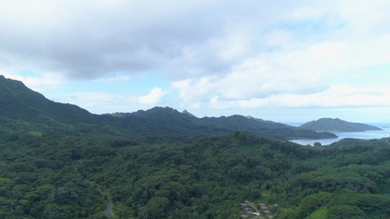 Tahaa, aerial view of bay Hurupiti, 4K UHD
