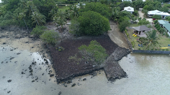Maupiti, aerial view above the marae Vaiahu, 4K UHD