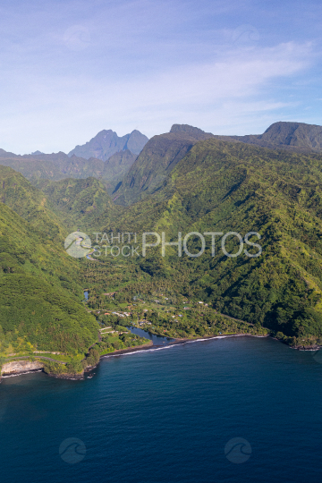 Tahiti aerial photography of Faaone