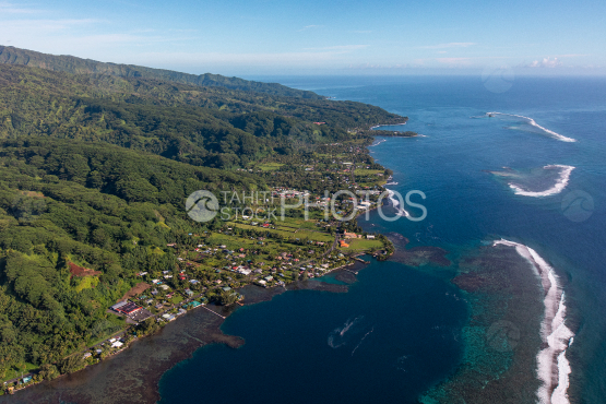 Tahiti aerial photography of Hiitia