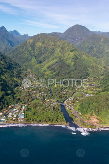 Tahiti aerial photography of Mahaena