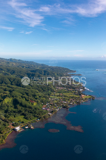 Tahiti, aerial photography of Hiitia