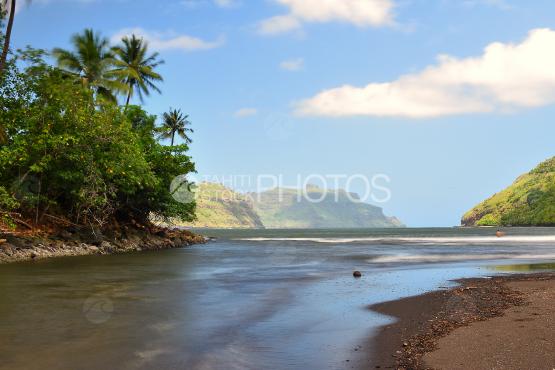 River and wild beach of taipivai