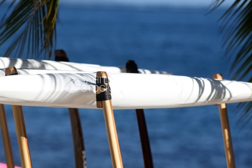 Tahitian Canoe Details, Balancier de Pirogue Polynésienne, Va'a