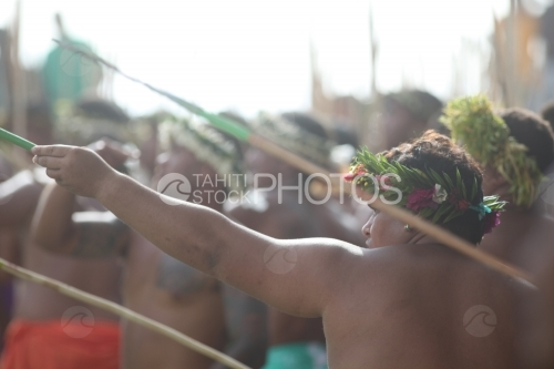 Tahitian and Traditional Spear Contest, Lanceurs de Javelots Traditionnels Polynésiens